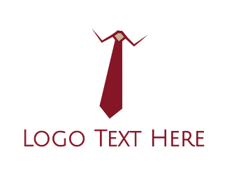 Boss - Red Tie Executive logo design