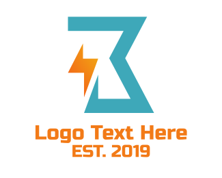 Zeus - Abstract Thunder Letter B logo design