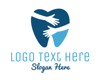Green Tooth - Dental Hug logo design
