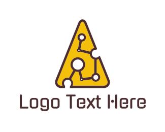 Link - Cheese Circuit logo design