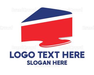 Birthday - Royal American Cake logo design