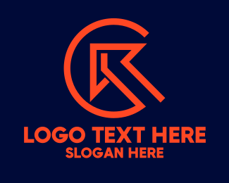 Contractor - Orange Arrow Contractor Letter C  logo design