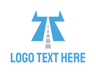 Traffic - Highway Letter T logo design