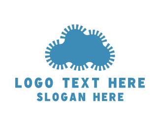Machine - Gear Cloud logo design
