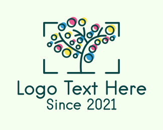 Frame - Colorful Nature Photography Frame logo design