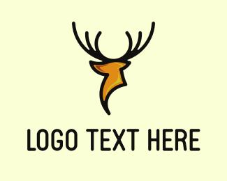 Whiskey - Modern Deer logo design