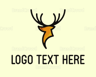 Whiskey - Modern Deer logo design