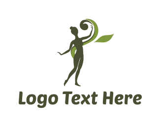 Beautify - Green Girl logo design