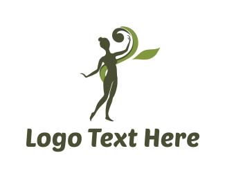 Beauty Shop - Green Girl logo design