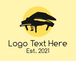 Music Lounge - Grand Piano Musical logo design