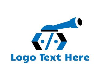 Attack - Tank Code logo design
