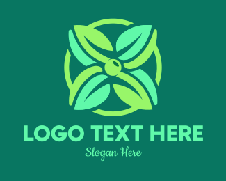 Biological - Green Mint Flower logo design