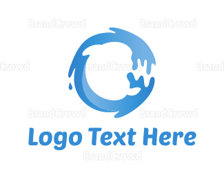 Wet - Water Circle logo design
