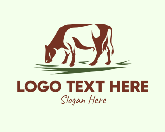 Dairy Farmer - Dairy Cow Products logo design