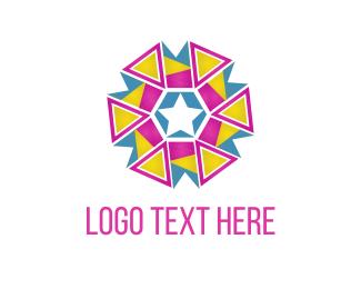 Birthday - Triangle Flower logo design