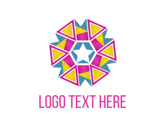 Club - Triangle Flower logo design