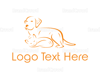 Animal Hospital - Cat & Dog logo design