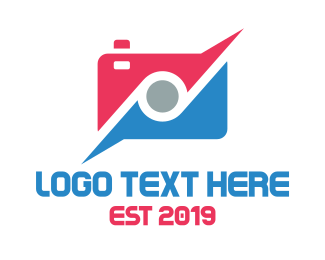 Messaging - Red Blue Tech Camera logo design