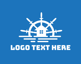 Boating - Ocean Houseboat logo design