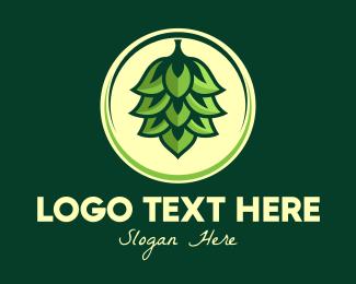 Element - Kush Leaf Plant logo design