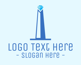 Shine - Diamond Obelisk logo design