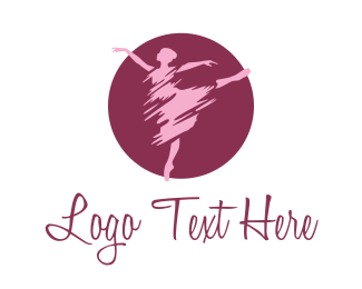 Perform - Ballet Dancer logo design