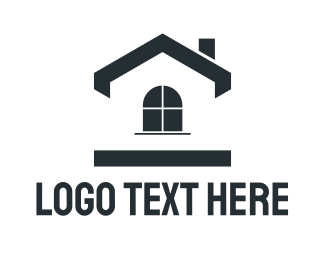 Simple - Black Simple House logo design