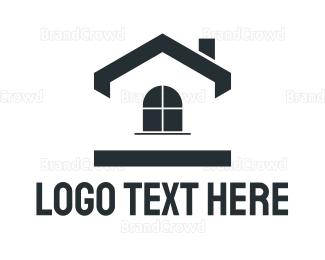 Simple - Black Simple House logo design