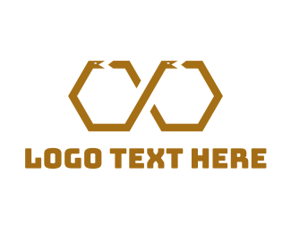 Snake - Hexagonal Snake logo design