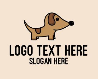 Nose - Dachshund Pup Dog logo design