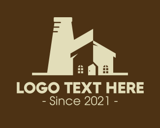 Factory - Industrial Factory Property logo design
