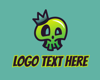 Crown - Skull King Graffiti logo design