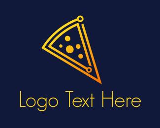 Pizza - Cheese Circuit logo design