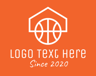 Hoops - Basketball Home Couurt logo design