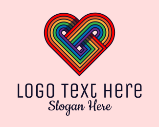 Inclusion - Rainbow Pride Heart  logo design