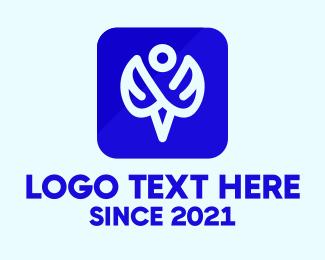 Icon - Blue Angel Icon logo design