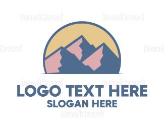 Everest - Abstract Rocky Mountain  logo design