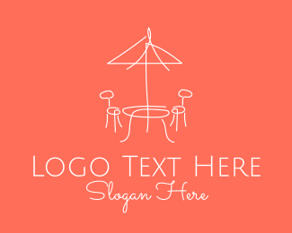 Relaxing - Alfresco Restaurant Cafe Dining logo design