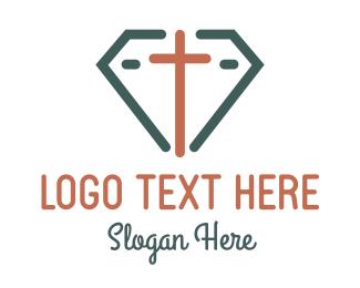 Diamond - Cross Diamond logo design