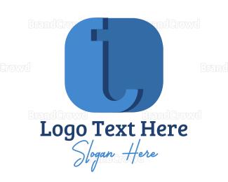 Messaging - Abstract Blue T  logo design