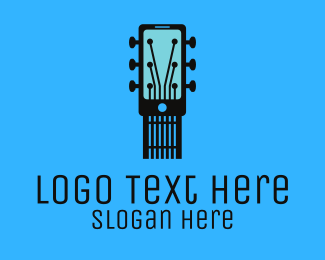 Acoustic - Acoustic Music Instrument Mobile App logo design