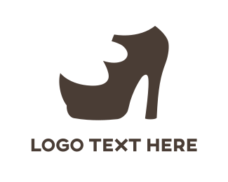 Shoe - Brown High Heels logo design
