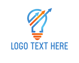 Business - Arrow Light Bulb logo design