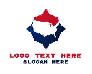 New York - USA Compass logo design