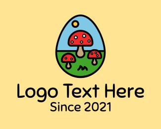Mushroom - Mushroom Egg logo design
