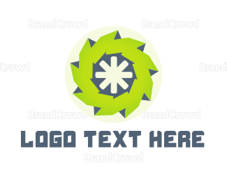 Rotation - Green Wheel logo design
