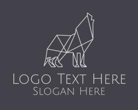 Advertising - Geometric Minimalist Grey Wolf logo design