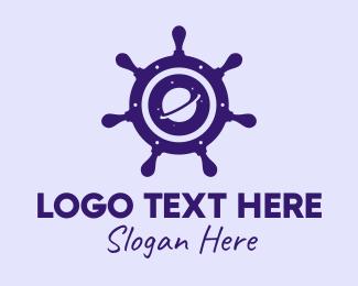 Explorer - Space Explorer Steering Wheel logo design