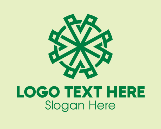 Saint Patrick - Geometric Four Leaf Clover  logo design