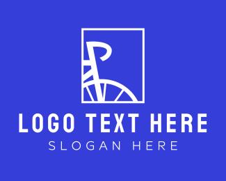 Biker - White Bike Frame logo design